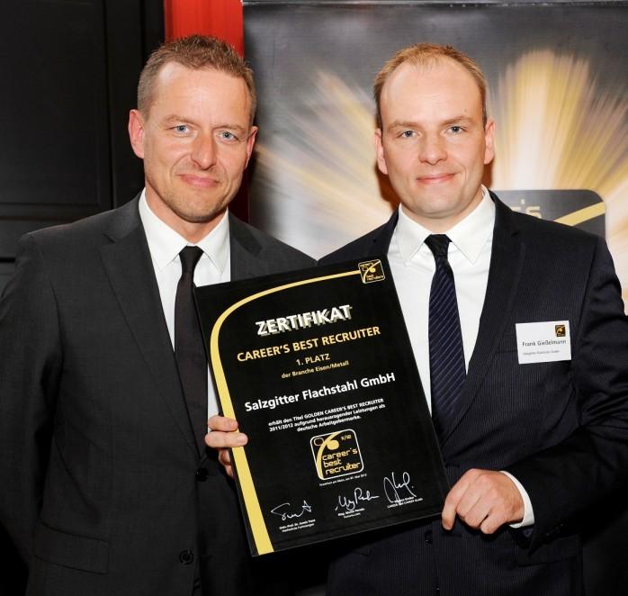 Frank Gießelmann erhält CAREER`S BEST RECRUITER-Zertifkat 2011/2012