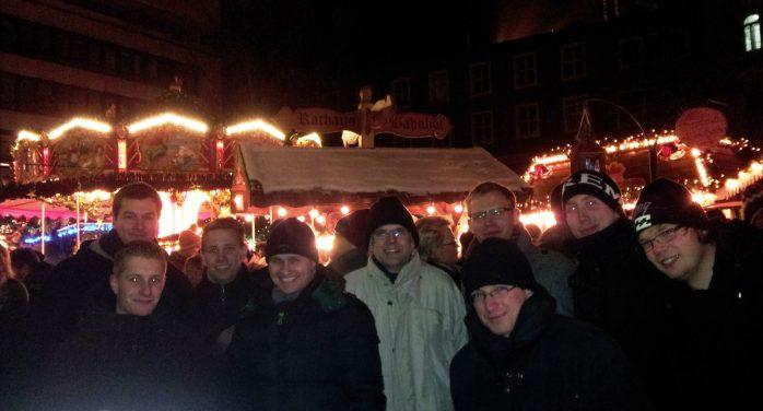 auf dem Weihnachtsmarkt in Braunschweig