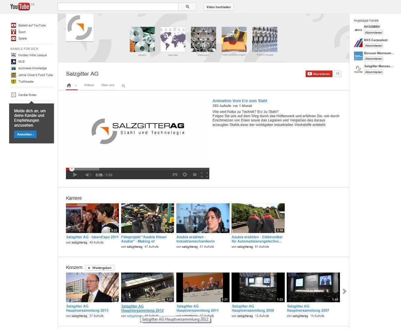 YouTube-Channel der Salzgitter AG