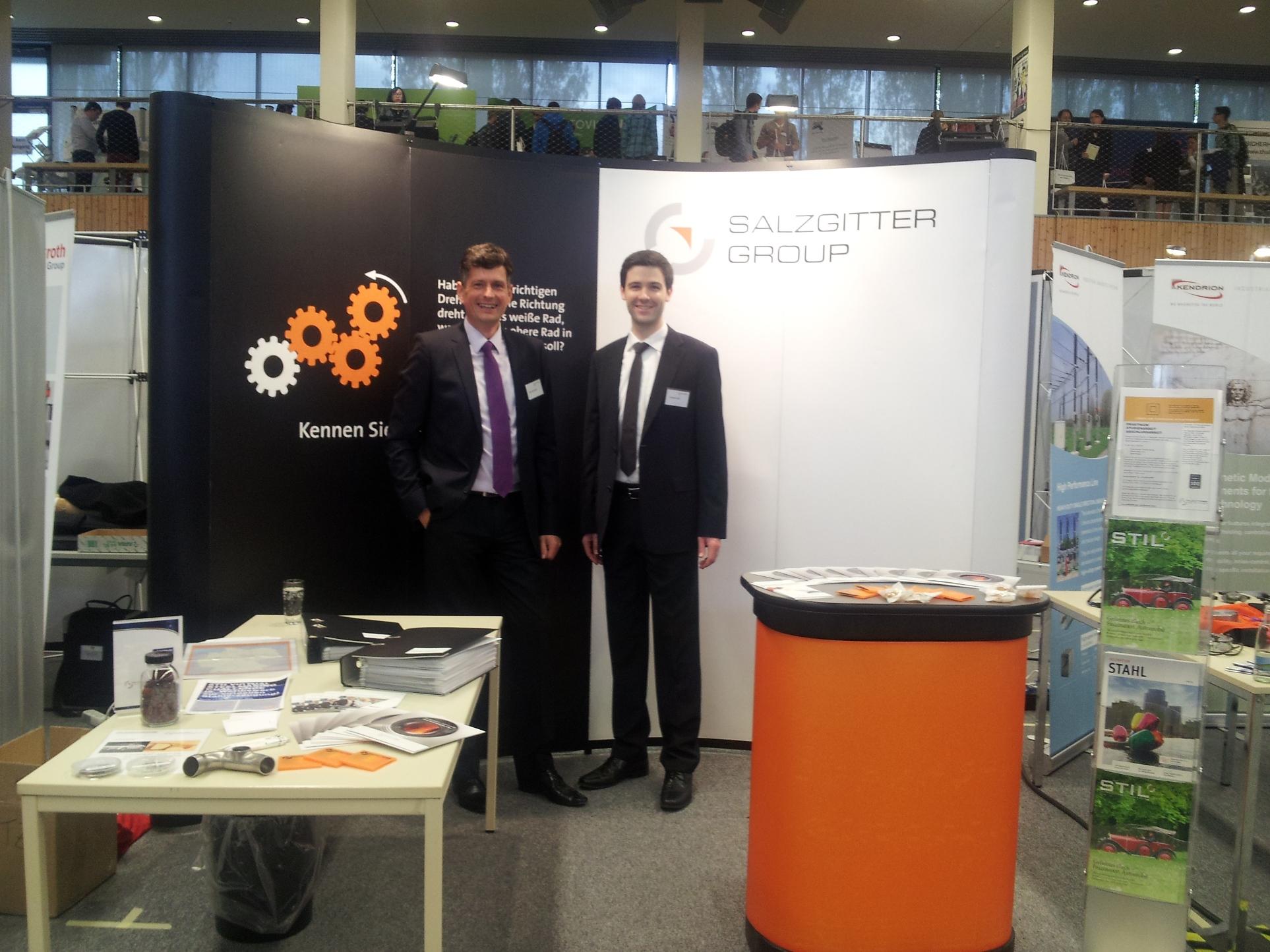 Team von Salzgitter auf der Hochschulkontaktmesse der TU Ilmenau