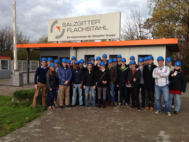 Exkursionsteilnehmer der RWTH Aachen
