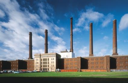 Das betriebseigene Kraftwerk sichert die kontinuierliche Energieversorgung der Produktionsbetriebe im gesamten Herstellungsprozess.