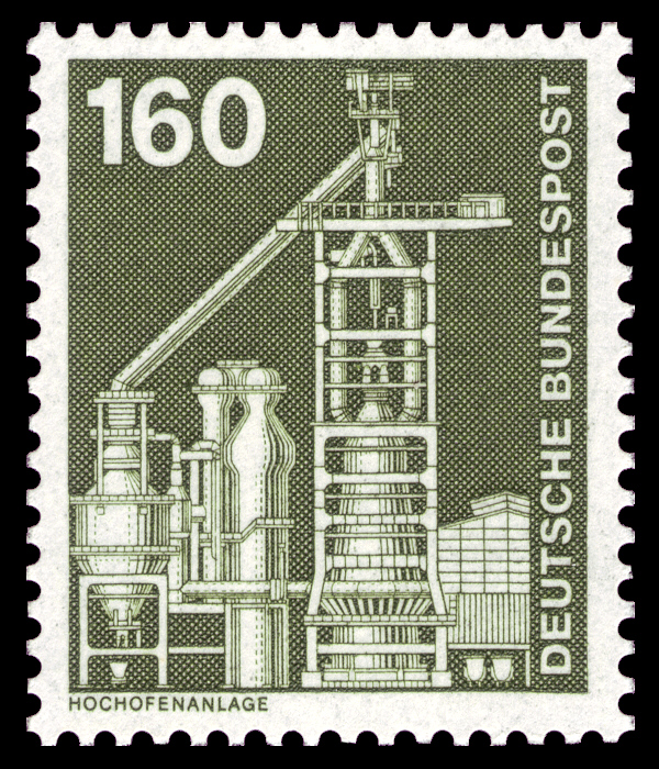 DBP 1975 857 Industrie und Technik scanned by NobbiP