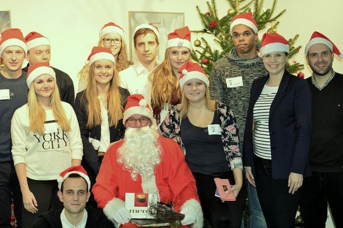 Helfer der Nikolausfeier
