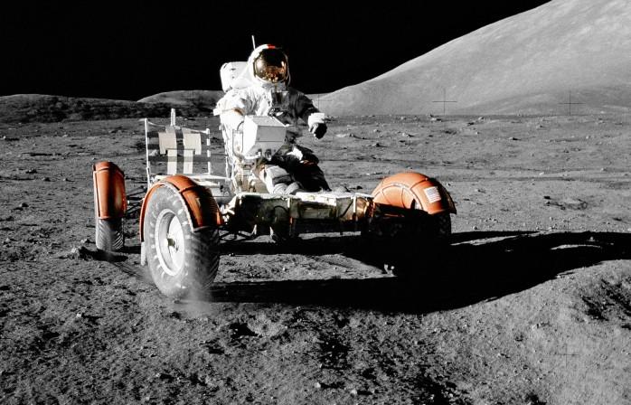 Auch das Mondauto der Apollo-Mission fuhr nicht ohne Stahl: Die Reifen wurden durch ein Federstahlgeflecht stabilisiert