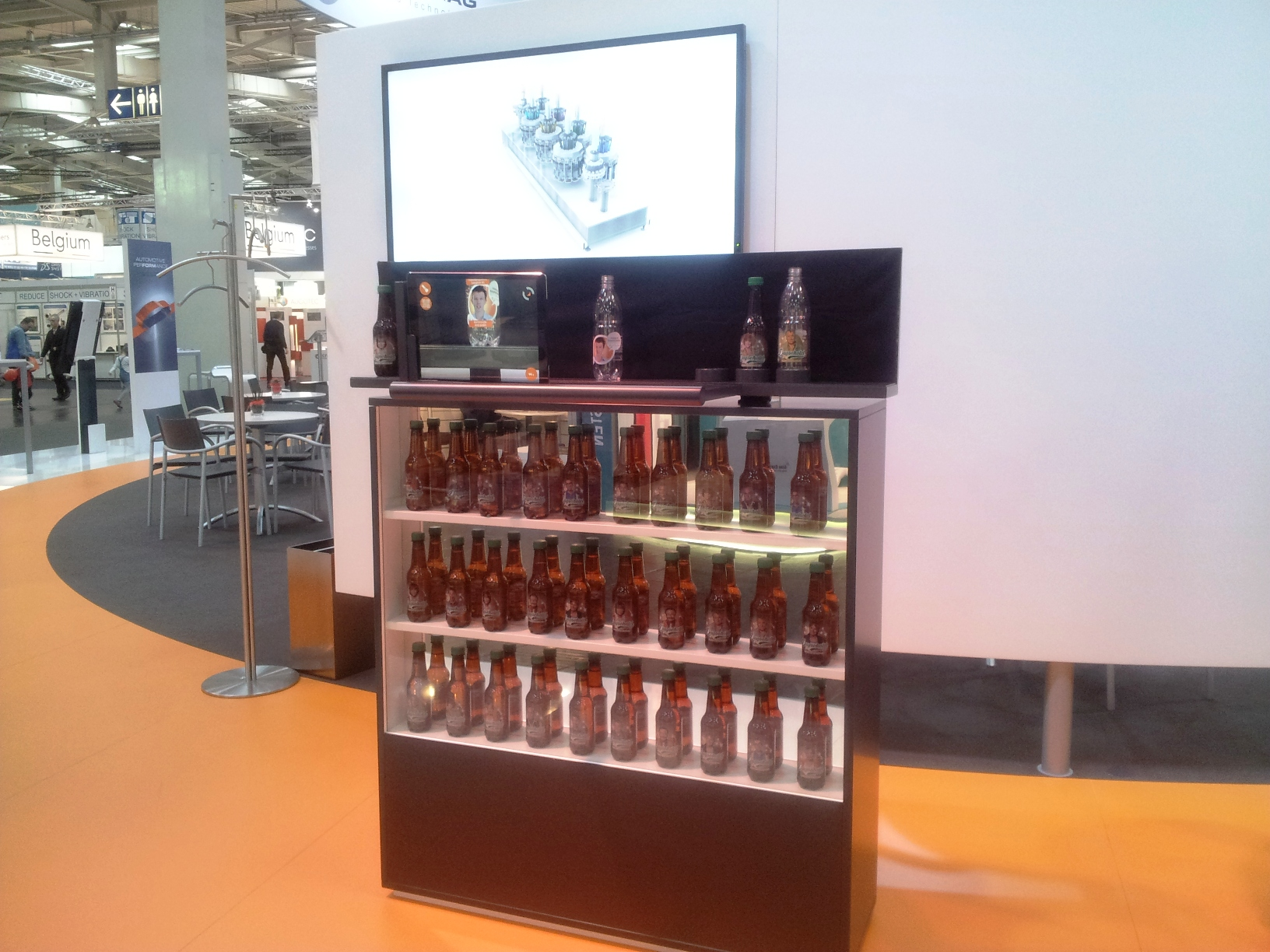 Exponat zur Direct Print Powered by KHS