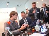 Hannover - Pressekonferenz zur Ideen Expo 2017 - Vorstellung der Exponate im VIP Bereich des Stadions --- Foto Tim Schaarschmidt/Ideen Expo